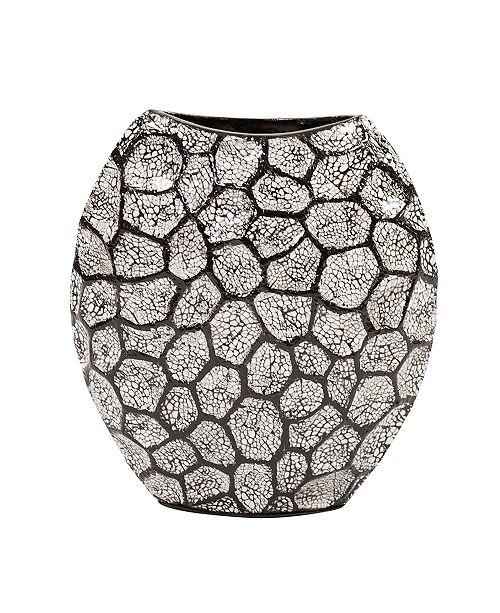 Howard Elliott Black White Honeycomb Vase Small
