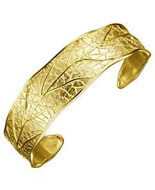 18K Gold Over Sterling Silver Cuff Bracelet