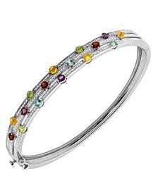 Multi-Gemstone (1-1/2 ct. t.w.) Bangle Bracelet in Sterling Silver
