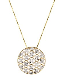 Circle Design Necklace in 18K Gold Over Sterling Silver