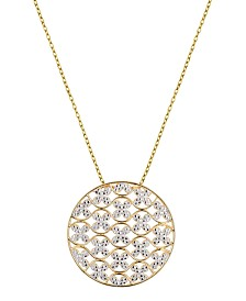 Prime Art & Jewel 18K Gold Over Sterling Silver Circle Design Necklace