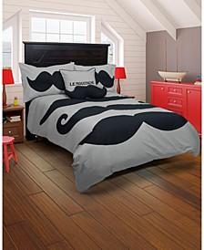 Le Moustache Twin 2 Piece Comforter Set