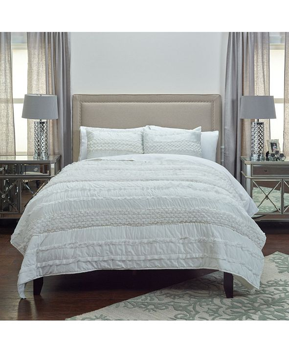 Rizzy Home Riztex USA Georgette King 3 Piece Quilt Set