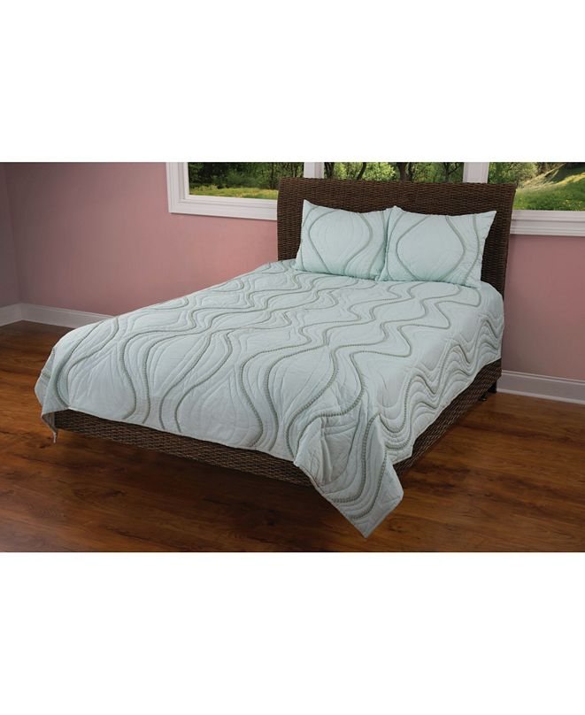 Rizzy Home Riztex USA Pompadour Queen Quilt