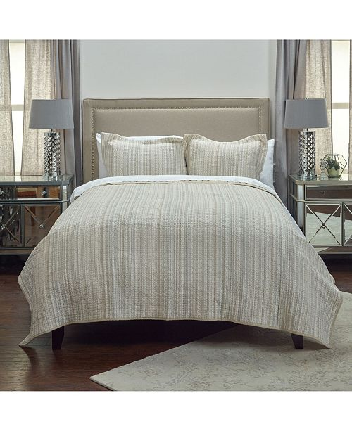 Rizzy Home Riztex USA Patrick Matelasse Queen Quilt