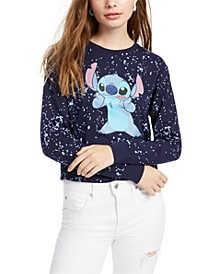 Juniors' Stitch Graphic-Print Top