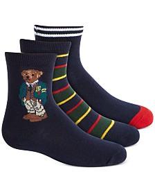 Polo Ralph Lauren Toddler Boys 3-Pk. St. Andrews Bear Socks