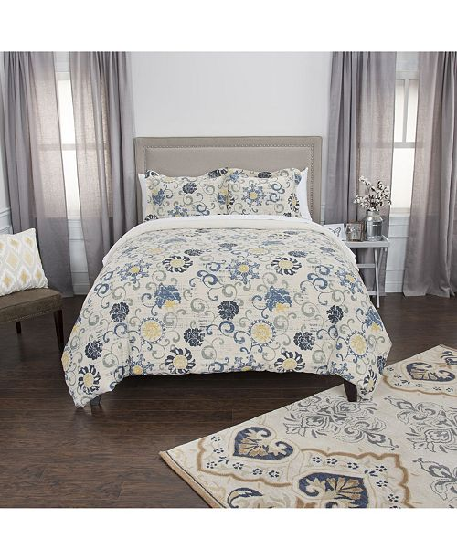 Riztex USA Deja King 3 Piece Duvet Set