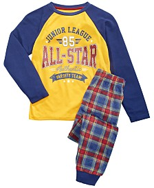 Max & Olivia Big Boys 2-Pc. All-Star Pajama Set