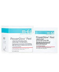 PowerGlow Peel 1 Minute 1-Step Exfoliating Facial Peel – 30 Treatments