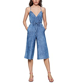 Cotton Ladder-Back Denim Jumpsuit
