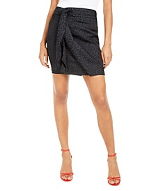 Seeley Animal-Print Wrap Skirt