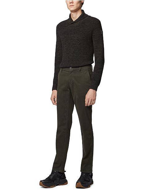 Hugo Boss BOSS Men's Afairbus Rib-Knit Shawl-Collar Sweater