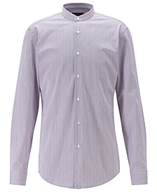 BOSS Men's Jordi Slim-Fit Stand-Collar Easy-Iron Cotton Shirt