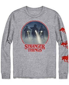 Stranger Things Men's Long-Sleeve Graphic T-Shirt