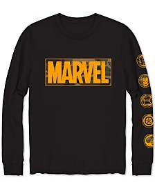 Marvel Camo Men's Long-Sleeve Graphic T-Shirt