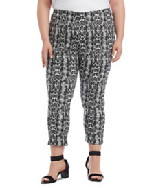 Karen Kane Plus Size Snake-Embossed Pants