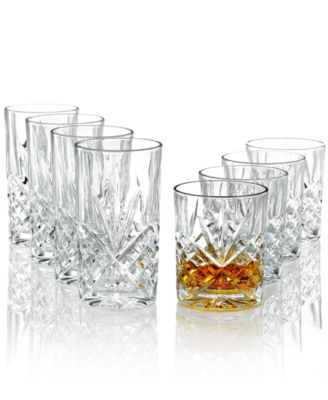 godinger barware dublin double and highball glasses set of 8 - Highball Glasses