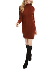 Kit & Sky Cable-Knit Sweater Dress
