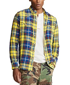 Polo Ralph Lauren Men's Cotton Twill Western Plaid Shirt