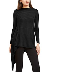 Ribbed Asymmetrical Sweater, Created For Macy's