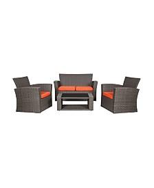 Westin Furniture 4-Piece Conversation Sofa Set with Cushions