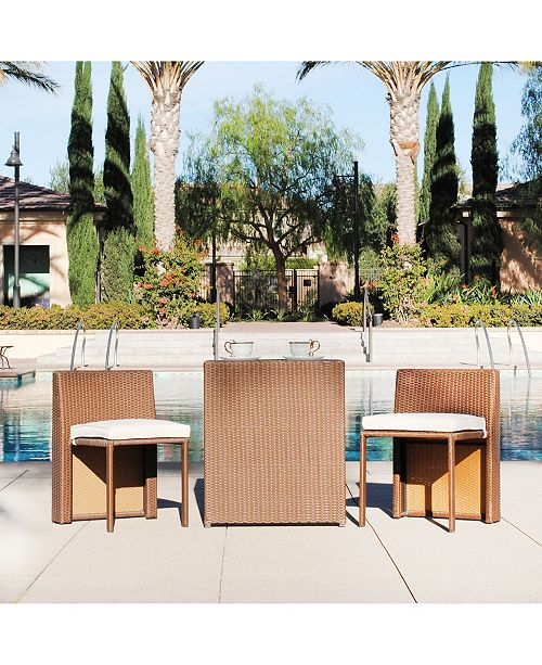 Westin Furniture 3-Piece Nesting Bistro Set