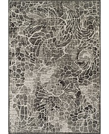 """Logan Lo1 Pewter 7'10"""" x 10'7"""" Area Rugs"""