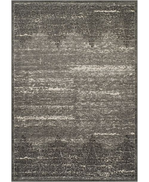 "D Style CLOSEOUT! Logan Lo2 Pewter 9'6"" x 13'2"" Area Rugs"