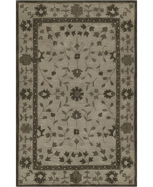 """D Style CLOSEOUT! Torrey Tor5 Walnut 3'6"""" x 5'6"""" Area Rugs"""