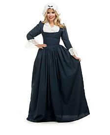 BuySeasons Women's Colonial Woman Navy Adult Costume