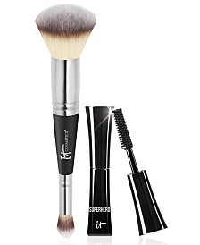 Limited Edition It Cosmetics Heavenly Luxe #7 Brush + Trial-Size Superhero Mascara - Only $48.00 with any Beauty Purchase! A $56 Value!