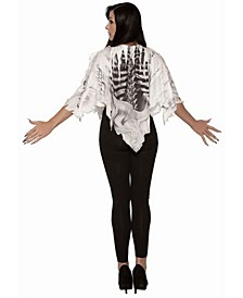 Women's Skeleton Poncho Adult Costume