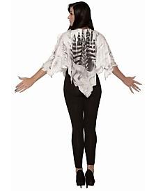 BuySeasons Women's Skeleton Poncho Adult Costume