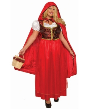 Women's Classic Red Riding Hood Plus Adult Costume