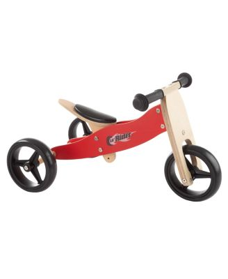 Lil' Rider 2-in-1 Wooden Balance Bike Push Tricycle