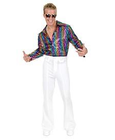 BuySeasons Men's Rainbow Swirl Disco Shirt