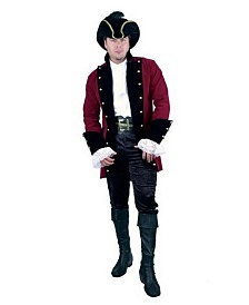 BuySeasons Men's Velvet Pirate Prince Wine Jacket Plus Adult Costume