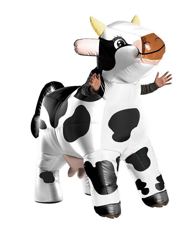 BuySeasons Funflatable Adult Moo Moo The Cow Adult Costume