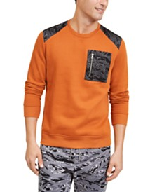 I.N.C. Men's Mesh Trim Sweater, Created for Macy's