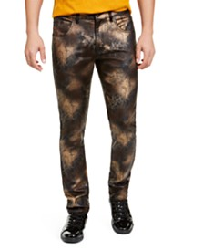 I.N.C. Men's Spray Paint Skinny Jeans, Created For Macy's