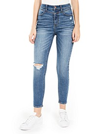 Juniors' Real Cheeky Ripped High-Rise Jeans