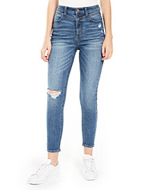 Vanilla Star Juniors' Real Cheeky Ripped High-Rise Jeans