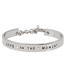 'LIVE IN THE MOMENT' Affirmation Toggle Bracelet