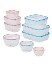 Lock n Lock Easy Essentials™ Color Mates™ 18-Pc. Food Storage Container Set
