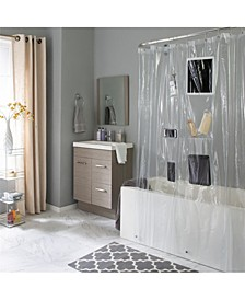 6 Pocket Tech Shower Curtain Liner