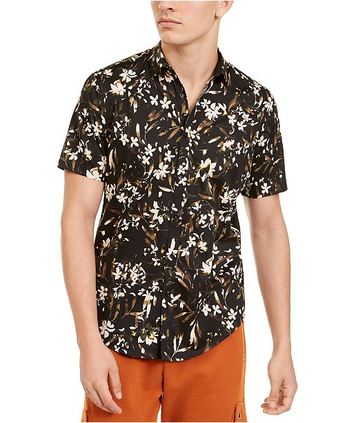 INC International Concepts INC Men's Floral Print Shirt, Created For Macy's