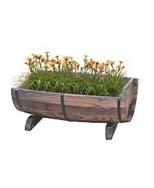 Gardenised Half Barrel Garden Planter - Medium