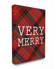 Very Merry Christmas Tartan Art Collection