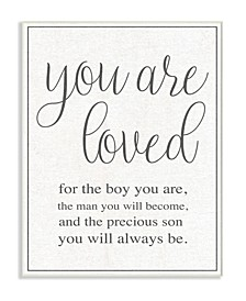 "You Are Loved Wall Plaque Art, 10"" x 15"""